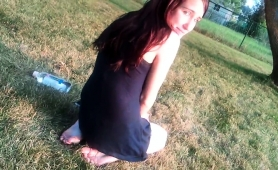 mesmerizing-brunette-teen-showing-off-her-soles-outside