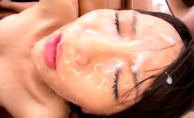 Kinky Oriental Babe Feeds Her Need For Rough Sex And Bukkake