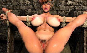 Voluptuous 3d Beauty Gets Her Squirting Pussy Drilled Deep