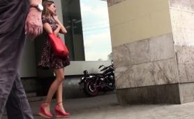 sensual-girl-in-high-heels-and-black-panties-upskirt-outside