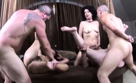 Horny Amateur Grannies Invite Younger Guys For A Wild Orgy
