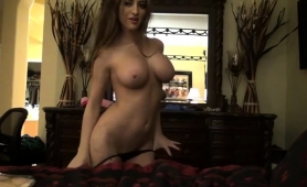 busty-brunette-sensually-undresses-and-exposes-her-sexy-body