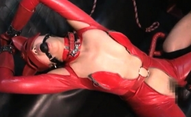 Kinky Japanese Babe In Latex Can't Get Enough Hardcore Sex