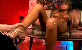 Bodacious Japanese Beauty Getting Oiled Up And Fucked Hard