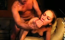 Striking Camgirl Chokes On A Fat Cock And Gets Pounded Rough